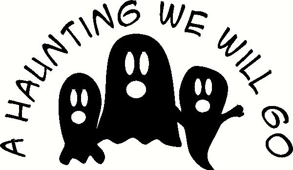 A Haunting We Will Go - Ghosts vinyl decal