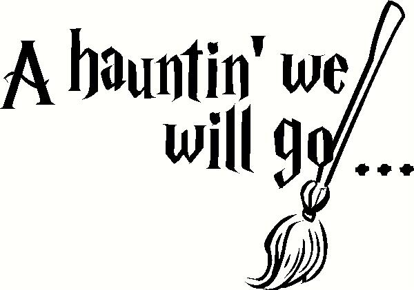 A Haunting We Will Go vinyl decal