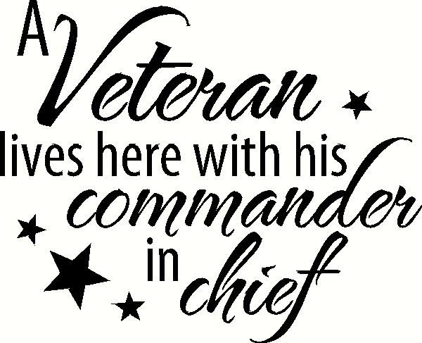 A Veteran Lives Here vinyl decal