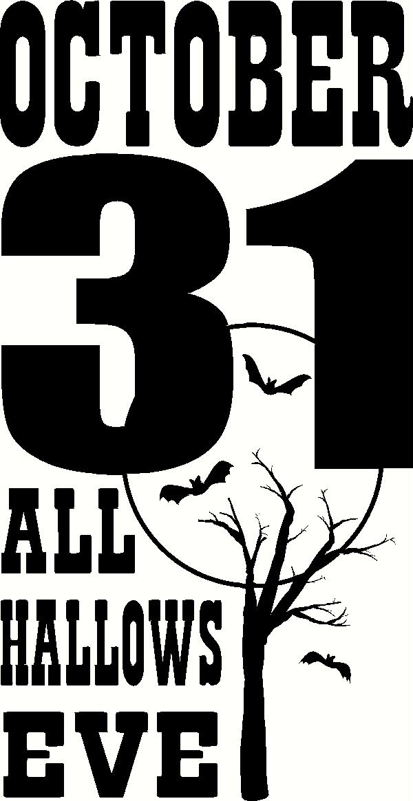 All Hallows Eve vinyl decal