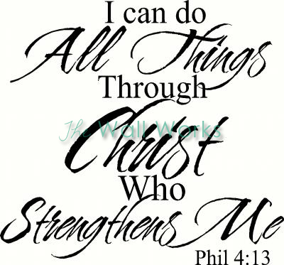 All Things Through Christ vinyl decal