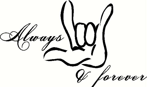 Always and Forever with Hand vinyl decal