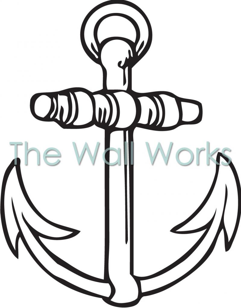 Anchor Outline vinyl decal