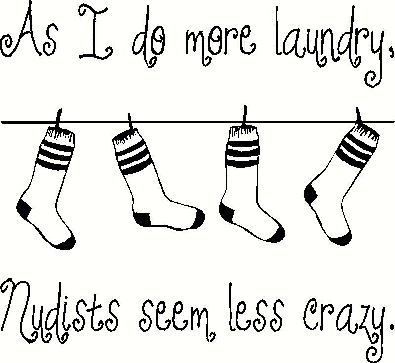 As I Do More Laundry vinyl decal