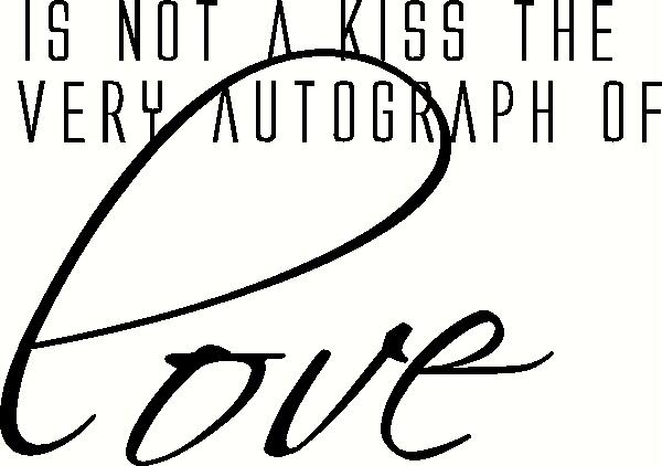 Autograph of Love vinyl decal