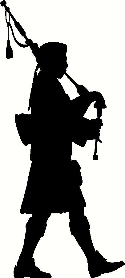Bagpipe Player Silhouette Wall Sticker Vinyl Decal The