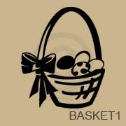 Easter Egg Basket vinyl decal