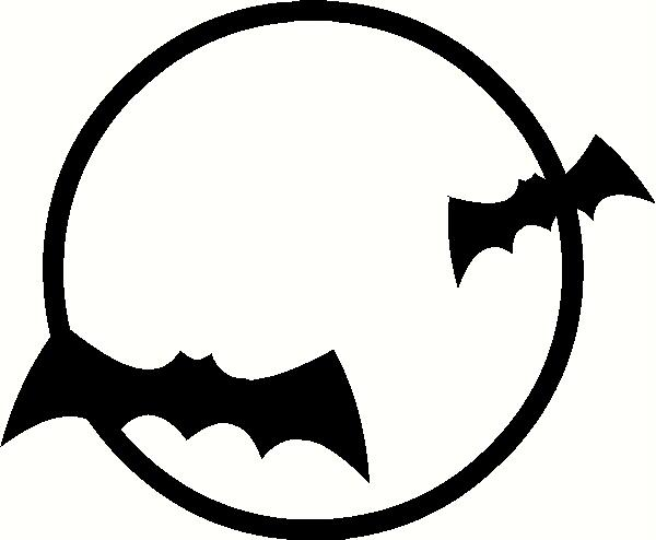 Bats in Moon vinyl decal