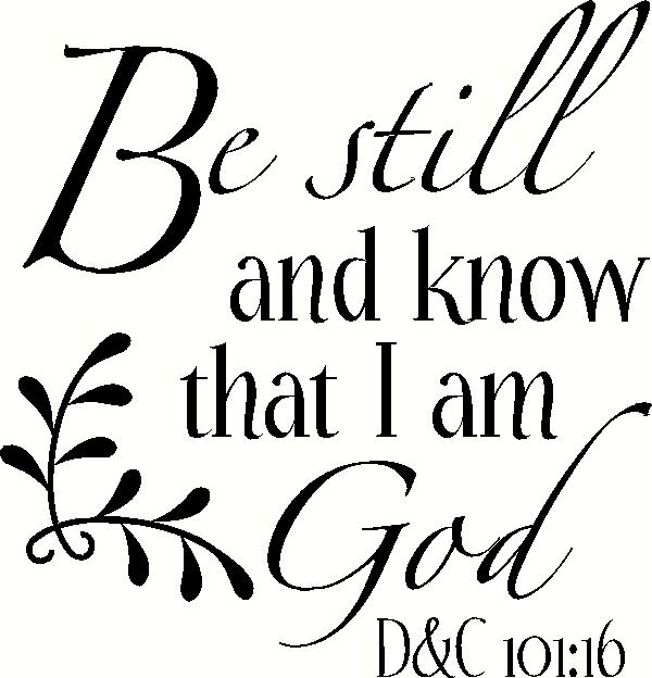 Be Still (1) vinyl decal