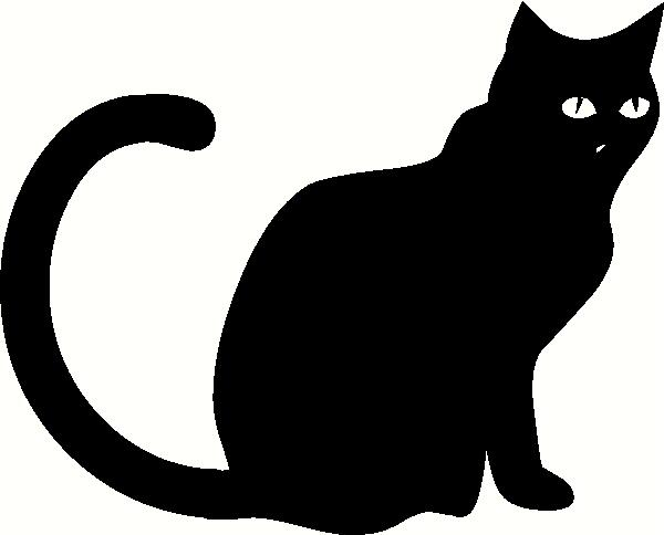 Black Cat Sitting vinyl decal