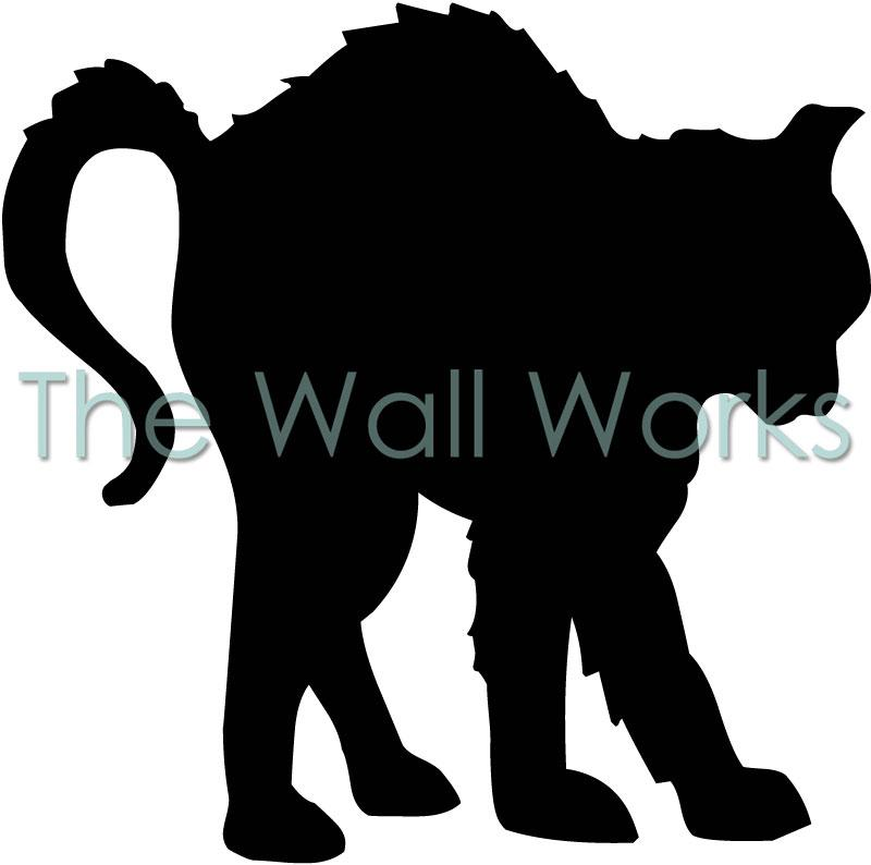 Black Cat Arched Back vinyl decal