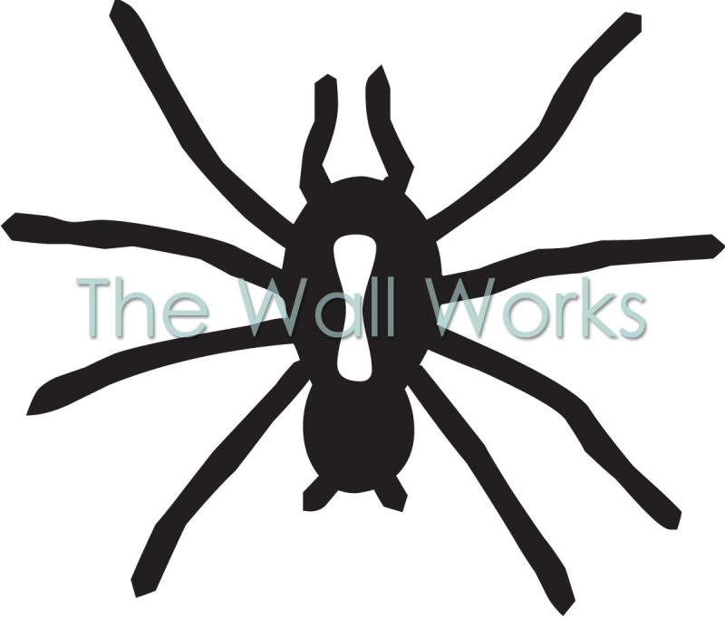 Black Widow vinyl decal