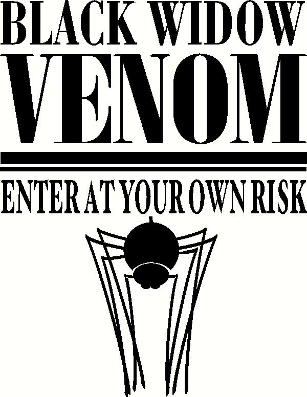 Black Widow Venom vinyl decal