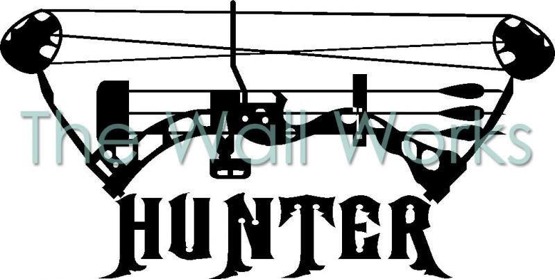 Compound Bow Hunter Wall Sticker Vinyl Decal The Wall Works