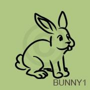 Bunny vinyl decal