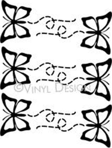 Butterflies with Trails vinyl decal