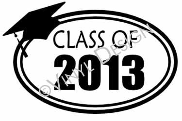 Class of 2013 vinyl decal