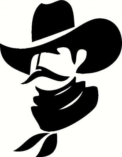 Cowboy Profile vinyl decal