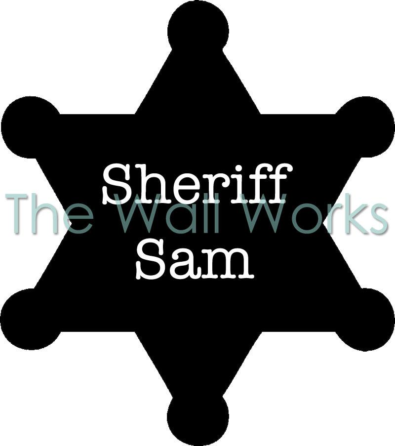Customizable Sheriff Badge - Solid vinyl decal