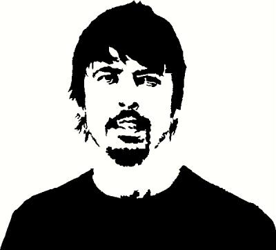 Dave Grohl vinyl decal