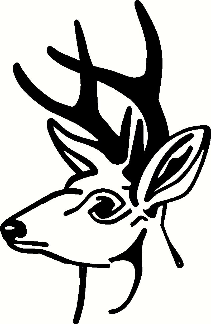 Deer Head (2) vinyl decal