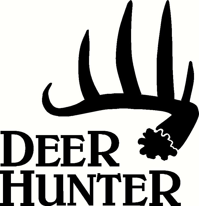 Deer Hunter Antler Vinyl Decal | Big Game Vinyl Decals