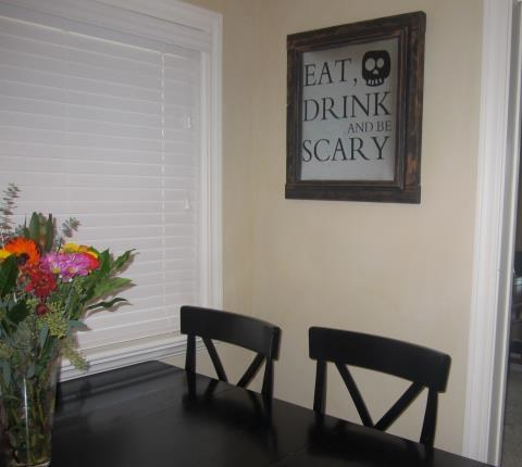 Eat Drink and Be Scary vinyl decal