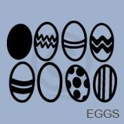 Easter Egg Collection vinyl decal