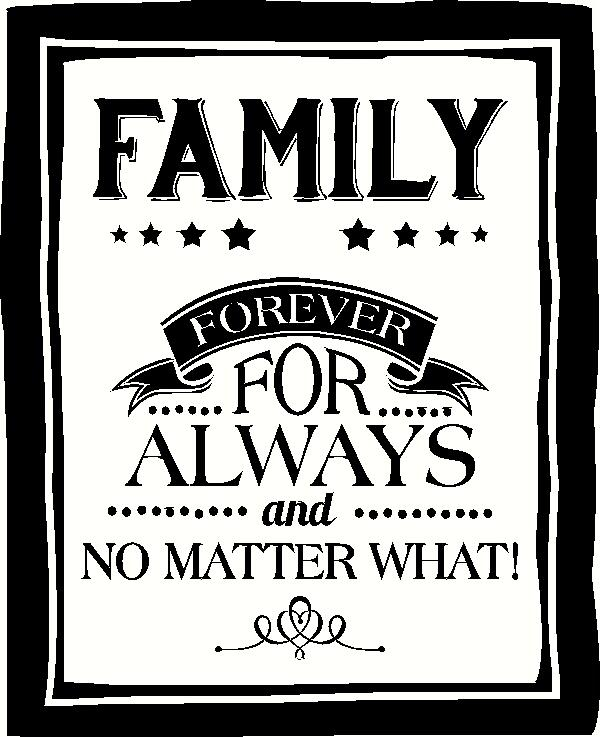 Family Forever vinyl decal