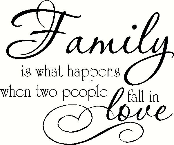 Family - When Two People Fall In Love vinyl decal
