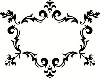 Fancy Frame (2) Vinyl Decal | Borders & Frames Vinyl Decals