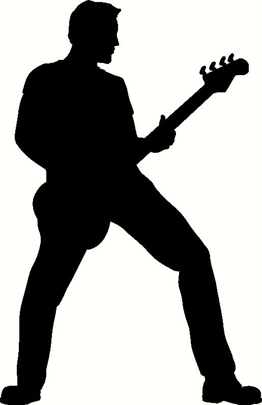 Guitar Player Silhouette vinyl decal