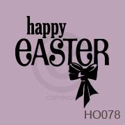 Happy Easter with Bow vinyl decal