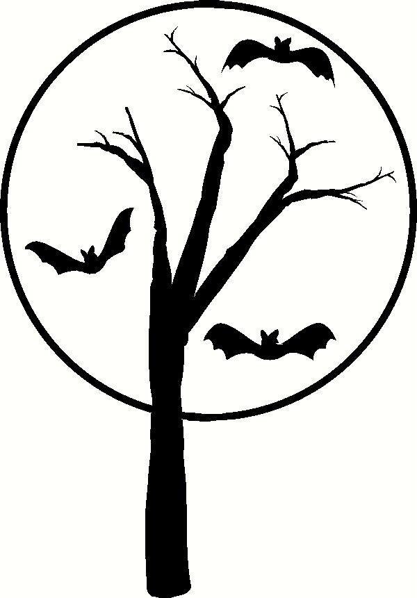 Haunted Tree with Bats vinyl decal