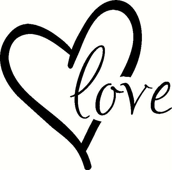 Love With Heart Wall Sticker Vinyl Decal The Works