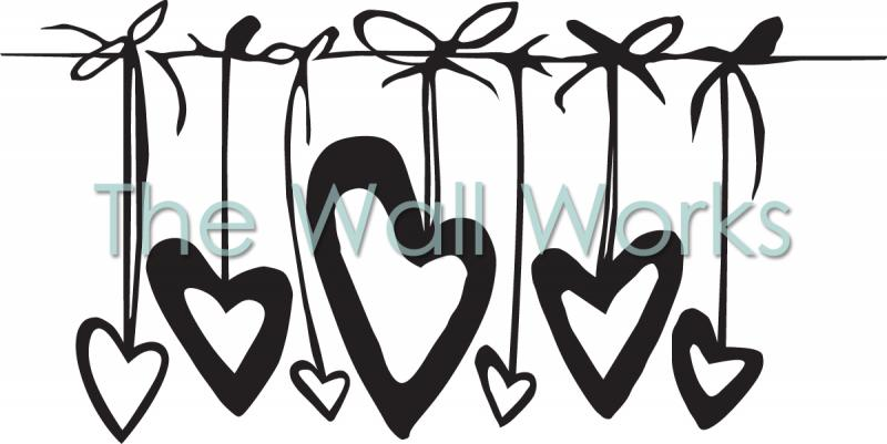Hearts on Strings vinyl decal