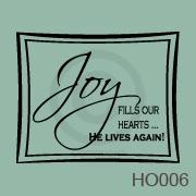 Joy - He Lives Again vinyl decal