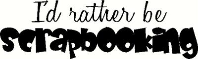 Rather Be Scrapbooking vinyl decal
