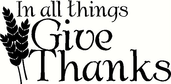 In All Things Give Thanks vinyl decal