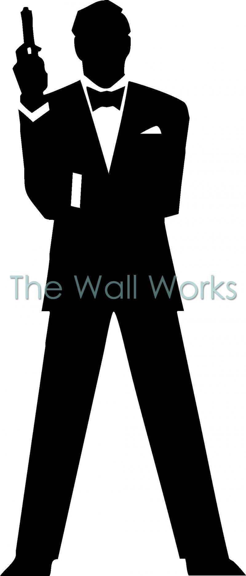 james bond 007 silhouette vinyl decal