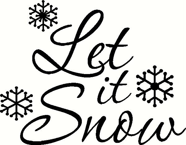 Let It Snow Wall Sticker Vinyl Decal The Wall Works
