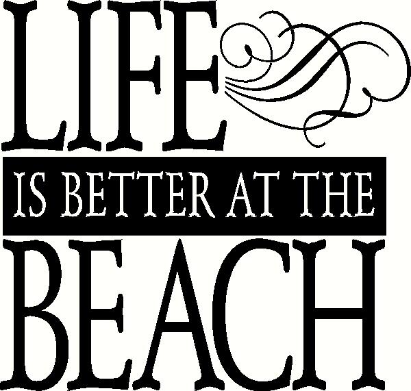 Life is Better at the Beach (1) vinyl decal
