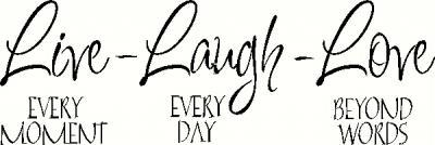 Live Laugh Love Vinyl Decal