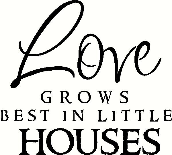 Love Grows Best vinyl decal