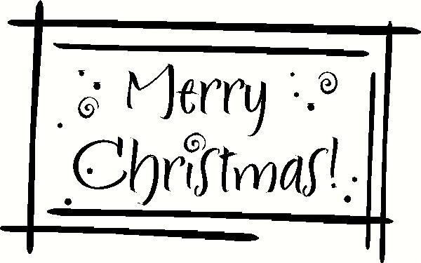 Merry Christmas (3) vinyl decal