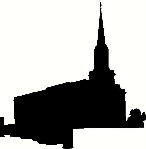 missouri st louis temple silhouette vinyl decal