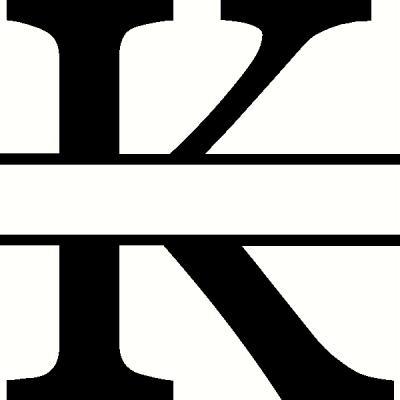 Monogram k vinyl decal custom creations vinyl decals