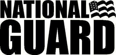 Custom Vinyl Lettering - National Guard vinyl decal - The ...