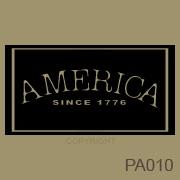America Sign vinyl decal