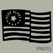 Old Glory Flag vinyl decal